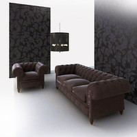 3ds max chesterfield sofa
