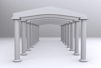 3d model columns