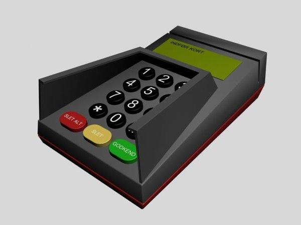 3d model creditcard terminal