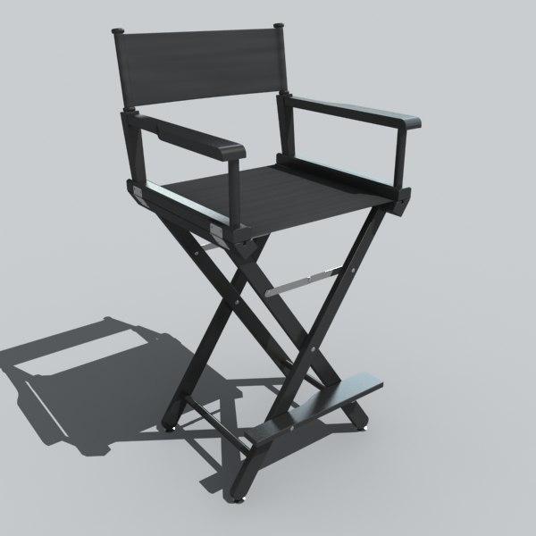 directors chair 3d 3ds