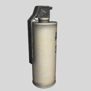m8 smoke grenade 3d obj