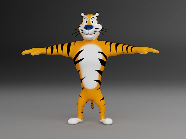 3ds max tiger character