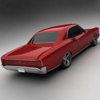 3d 1966 pontiac gto model