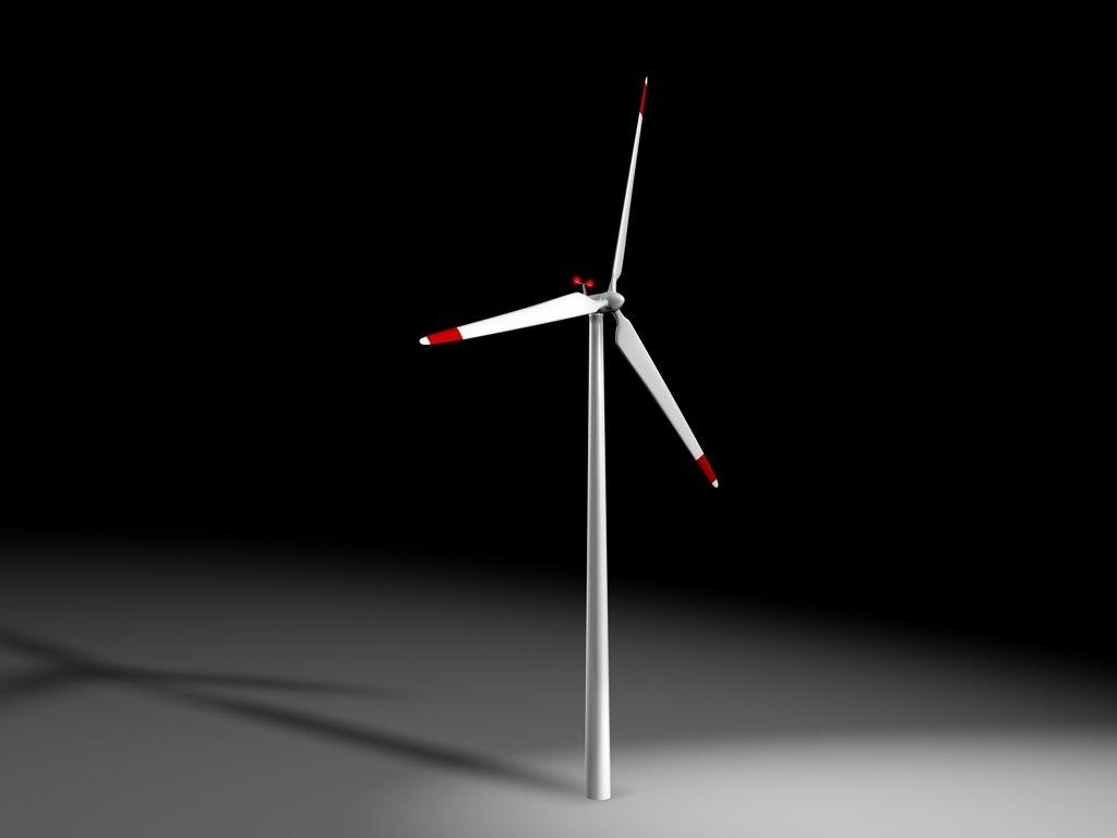 electric windmill 3d c4d