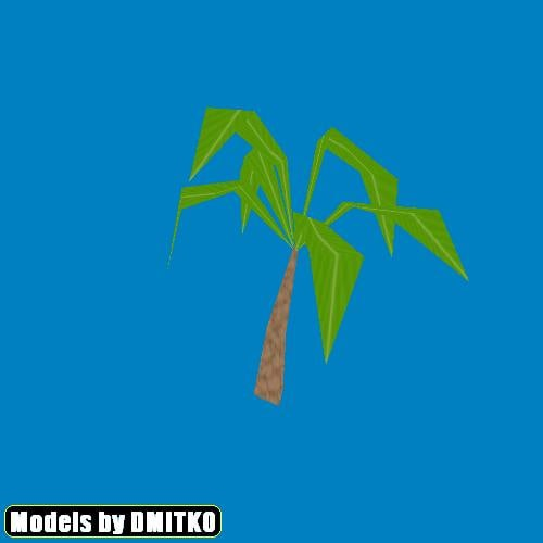 cartoony palm 3d model