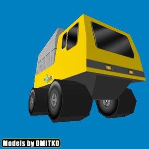 3d model truck toy