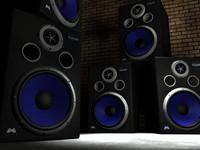 c4d studio monitor speakers