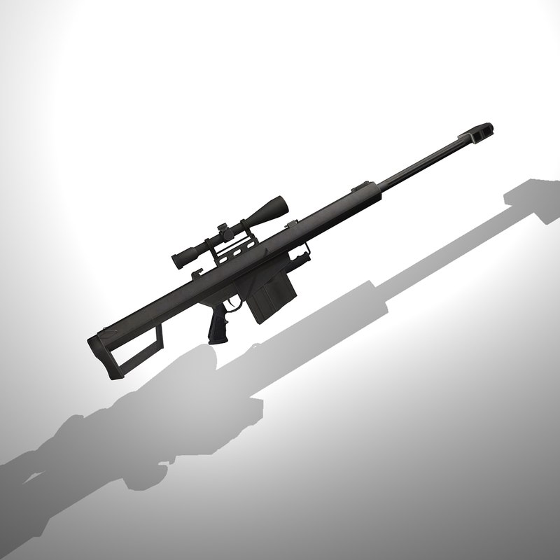 3d model barrett m82a1 m82