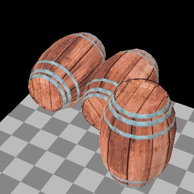 old barrel 3d x