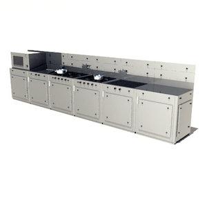 3d commercial kitchen module model