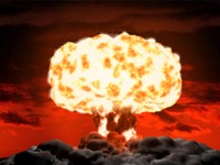 3d model nuclear explosion