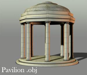 pavillion gazebo obj free