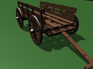 free old cart 3d model