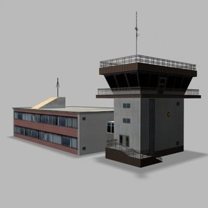 3ds max air traffic control tower