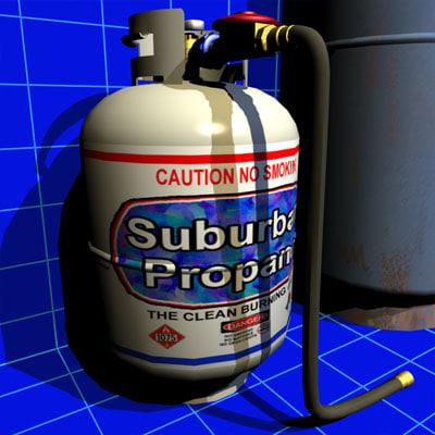 3d propane tank 02 fuel model