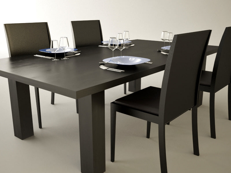 Dining table d model