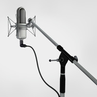 3d model modern microphone stand samson