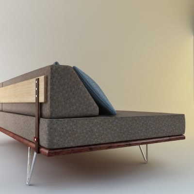 case study day bed 3d model