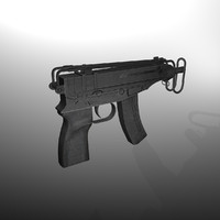 3d skorpion vz 61 submachine gun