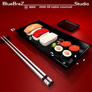 maya sushi plate food