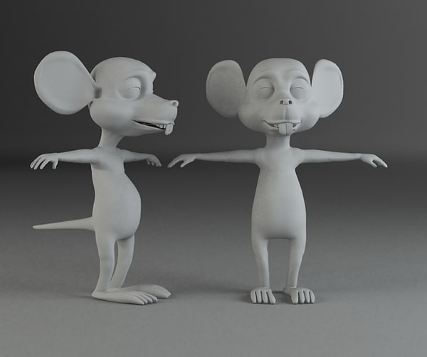 3d mouse character