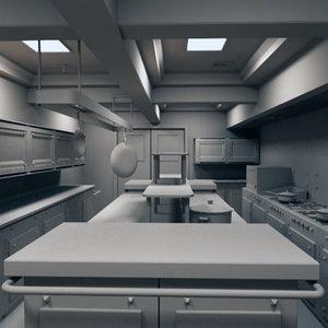 3d restaurant kitchen model