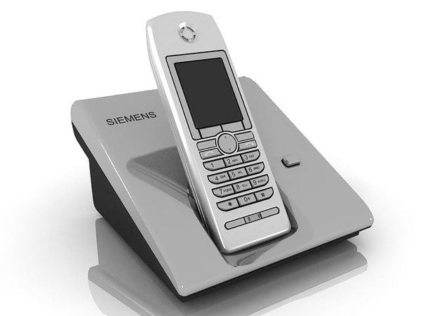 3d s siemens telephone model
