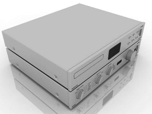 3d model cd player set