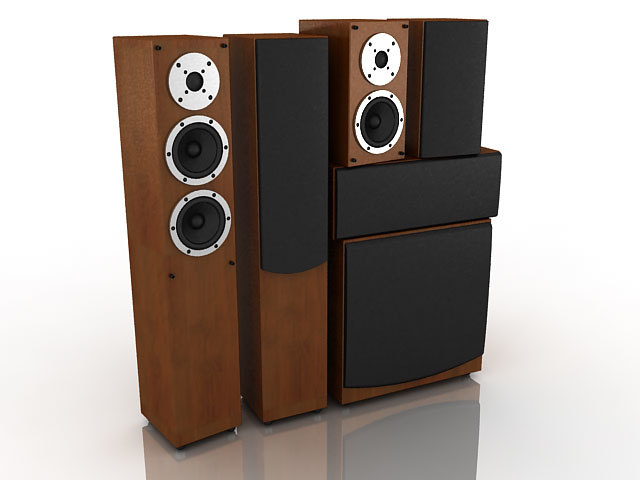 3d speaker set model