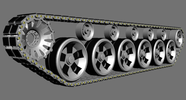 3d model main battle tank track
