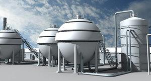 3d model refinery unit 4