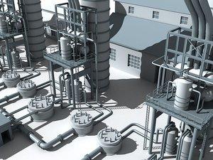 refinery unit 3 3d model