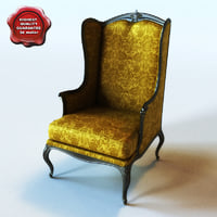 armchair classic interior 3ds