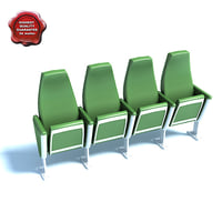 conference room seats 3d 3ds