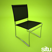 mesh dining chair 3d 3ds