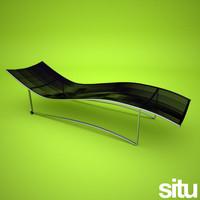 mesh lounger garden 3d model