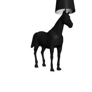 3d model horse lamp