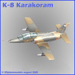 3d model training jet k-8 karakorum