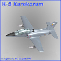training jet k-8 karakorum 3d model