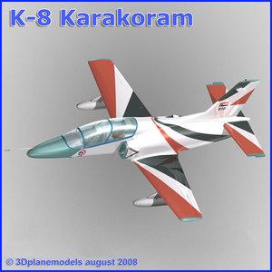 3d training jet k-8 karakorum model