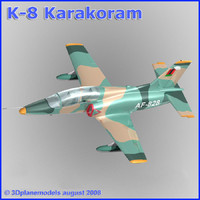 3d training jet k-8 karakorum model