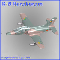 training jet k-8 karakorum 3ds