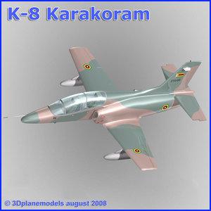 training jet k-8 karakorum 3ds