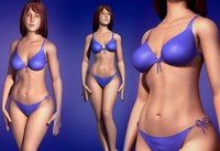3ds max 4 women characters woman