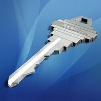 3d household key lock model