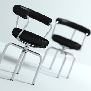 3d 3ds corbusier lc7 chair swivel