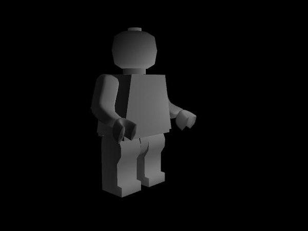 3d lego man model
