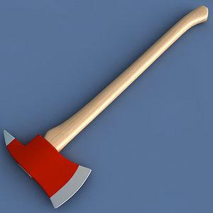 3d fireman axe
