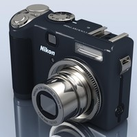 nikon coolpix p5000 camera 3d 3ds