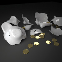 c4d piggy bank coin